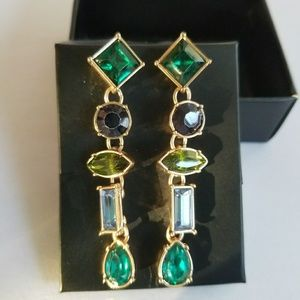 Jewelry - Stylish Sparkle Green Drop Earrings